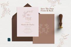 Minimal Sketch Floral Invitation Suite Product Image 3
