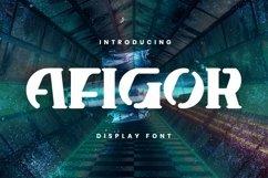 Web Font Afigor Font Product Image 1