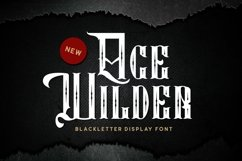 Age Wilder Font Product Image 1