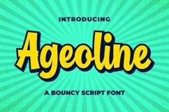 Ageoline Bouncy Script Font Product Image 1