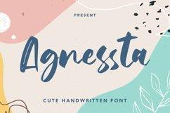 Web Font Agnessta - Cute Handwritten Font Product Image 1