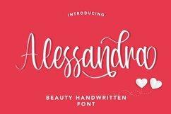 Web Font Alessandra - Beauty Handwritten Font Product Image 1