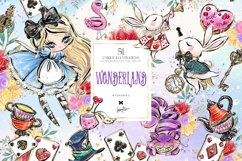Alice in Wonderland Clipart Product Image 1