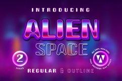 Alien Space - Regular and outline modern font Product Image 1