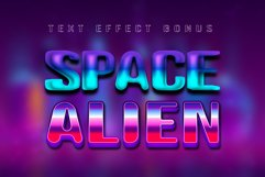 Alien Space - Regular and outline modern font Product Image 3