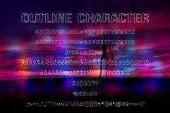 Alien Space - Regular and outline modern font Product Image 4