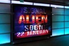 Alien Space - Regular and outline modern font Product Image 5