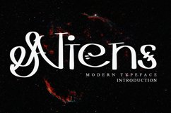 Aliens - Modern Typeface Font Product Image 1