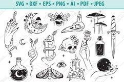 Mystical SVG, Witchy hands svg, Celestial Svg, Eps, Dxf, Png Product Image 1