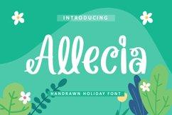 Allecia - Handrawn Holiday Font Product Image 1