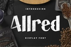 Web Font Allred Font Product Image 1