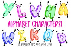 Jumping ABC Alphabet Cartoon Characters! SVG, PNG, JPG, EPS Product Image 1