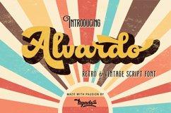 Alvardo - Retro Bold Script - Latest Trending Vintage Font Product Image 1