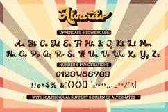 Alvardo - Retro Bold Script - Latest Trending Vintage Font Product Image 6