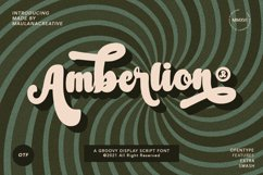 Amberlion Groovy Diplay Script Font Product Image 1