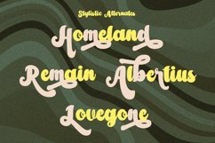Amberlion Groovy Diplay Script Font Product Image 5