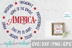 America Round SVG, DXF, PNG, EPS Product Image 1