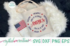 America Round SVG, DXF, PNG, EPS Product Image 5
