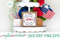 America Round SVG, DXF, PNG, EPS Product Image 4