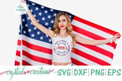 America Round SVG, DXF, PNG, EPS Product Image 2