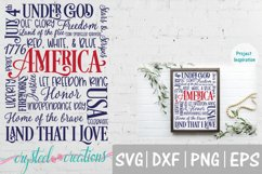 America 4th of July Subway Art SVG, DXF, PNG, EPS Product Image 1