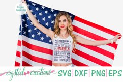 America 4th of July Subway Art SVG, DXF, PNG, EPS Product Image 3