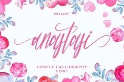 Web Font Anastasi - Lovely Calligraphy Font Product Image 1