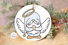 Angel Gnome SVG   Christmas Gnome for Ornaments Shirts Signs Product Image 1