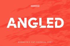 Cut Angles Font Product Image 1