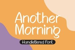 Web Font Another Morning - Handlettered Font Product Image 1