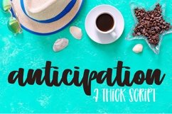 Web Font Anticipation - A Hand Lettered Script Product Image 1