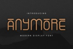 Web Font Anymore Font Product Image 1