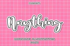 Web Font Anything - Bouncing Handwritten Font Product Image 1