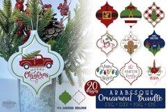 Arabesque Tile Christmas Ornament SVG Bundle Product Image 1