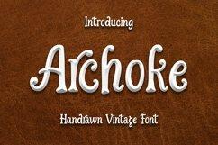 Web Font Archoke - Handrawn Vintage Font Product Image 1