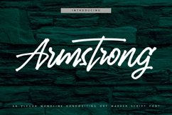 Web Font Armstrong - Monoline Handwriting Script Font Product Image 1