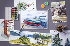 15 watercolor mountain landscapes Product Image 4