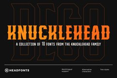 Knucklehead Deco   Vintage Font Product Image 1
