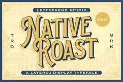 Native Roast - Layered Display Font Product Image 1