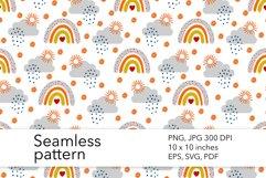 Fall Rainbow Seamless Pattern - Autumn Pattern Design Product Image 1