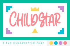 Childstar - Display Font Product Image 1
