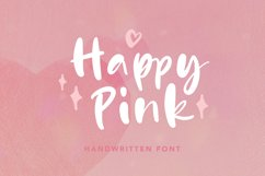 Happy Pink - Handwritten Font Product Image 1