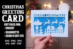 9 Christmas greeting cards SVG template,Merry Christmas card Product Image 5