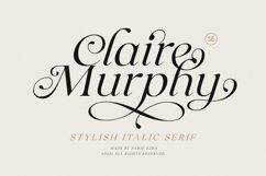 Claire Murphy - Stylish Italic Serif Product Image 1