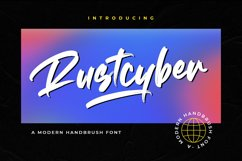Rustcyber - Brush Font Product Image 1