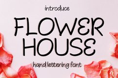 Flower House || hand lettering Product Image 1