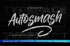 Autosmash - Brush Font Product Image 1