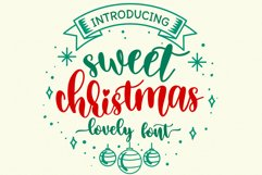 Sweet Christmas - A lovely Script Font with swash Product Image 1