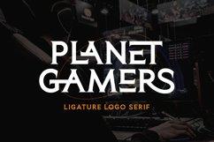 Planet Gamers - Ligature Logo Serif Product Image 1