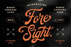 Foresight Font Logo Template Product Image 1